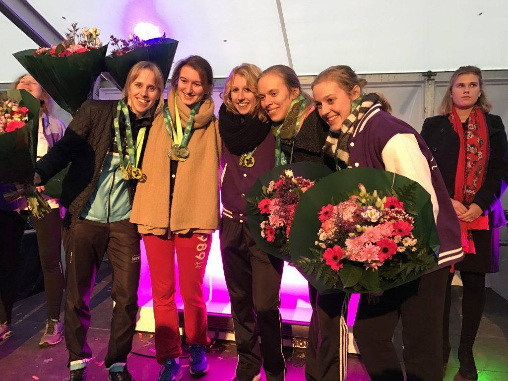Winnende team 5km vrouwen